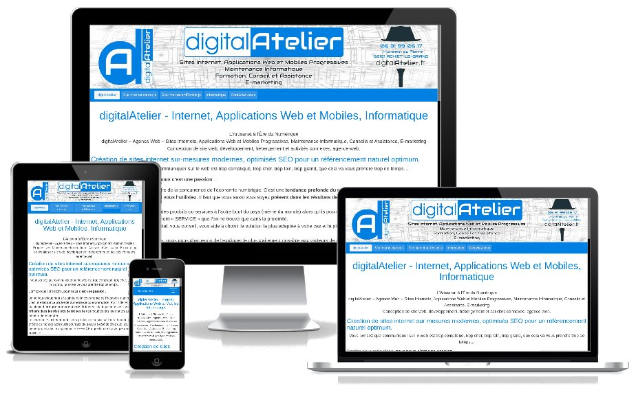 site web responsive par digitalAtelier