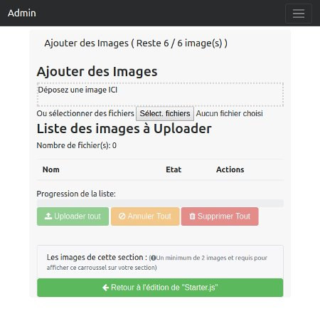 Gestion images starter.js digitalAtelier